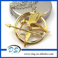 2014 New Gold Plated The Hunger Game Pendant Necklace