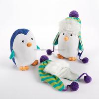 'Ice Caps' Penguin Plush and Hat