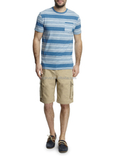 mens yarn dyed engineering big stripes shirt,engineering stripes t shirt with one pocket, cheap short sleeve yarn dyed t shirt