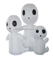 Halloween 4' tall electric LED light yard decoration,white ghost family halloween inflatable