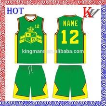 de poliéster coolmax los equipos de baloncesto baloncesto baratos conjunto para los niños
