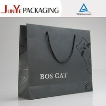 wholesale matte back lamination logo printed recycle custom brand name shopping folded shopping packaging bag