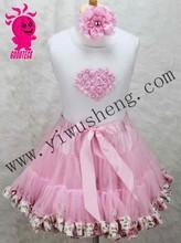 Summer vogue baby girls beautiful pettiskirt wholesale baby girls 0-10years flower lace dress summer girls sleeveless skirt