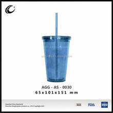2015 wholesale plastic advertising cheap insulated plastic travel mugs