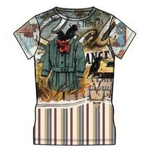 oem de poliéster de algodón encargo 3d t camisa