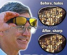Hd noir lunettes de soleil lentille jaune conduite de nuit