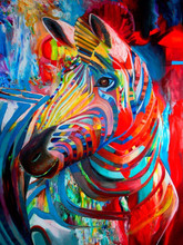 2015 New Design Pop Sell Abstract Animal Zebra Oil Painting On Canvas Abstract Modern Decor Zebra Paintings Wholesale