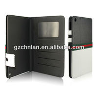 New flip leather case for Ipad mini,can put card and money