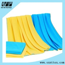 yellow or blue pure colour polar fleece air-conditioning blanket