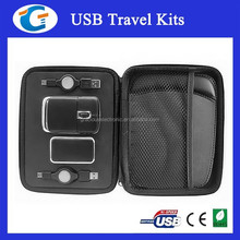 usb traveling set computer kit with mouse and 4 ports usb