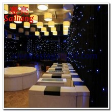 led star cloth/indian wedding backdrop decorations