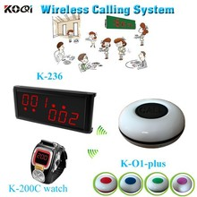 2015 Newest 433mhz Receiver Display Alphanumeric Portable Pagers Restaurant Paging System
