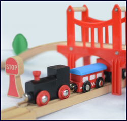 wooden toy track, train track toys, educational wooden train toy for kids