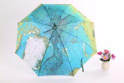 Fiberglass Ribs Good Quality Curved Handle heat transfer printing Rains Umbrellas From China