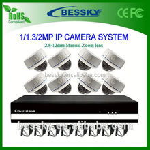 8 CH IP CAMREA NVR Kit,all in one ip network camera,mini ip indoor dome camera