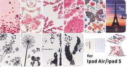 Factory Wholesale New PU Leather Book Case for iPad Air,for iPad Air PU Case Cover