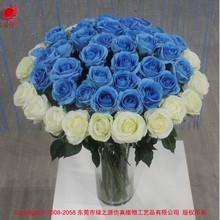 China blue rosas venta al por mayor proveedores de boda barato flor artificial