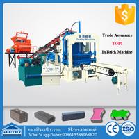 QT4-15C standard size of hollow block brick machine ,color pavers block brick making machine China