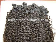 Top grade tight curl human hair extension