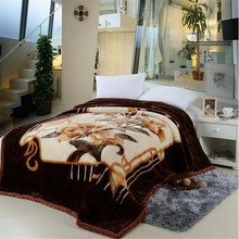 100 polyester 2ply weft knitting personalized blanket