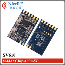 SV610 - 433.92MHz wireless rf receiver module Si4432 chip 100mW 1-1.4km remote control Embedded transceiver module
