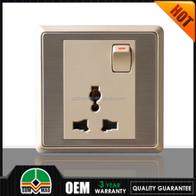 ABS material wall Universal2015 Sockets/wall adapter orange color switch and socket