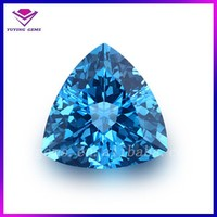 Fancy trillion cut 20*20mm triangle blue topaz rough stone synthetic diamond loose gems