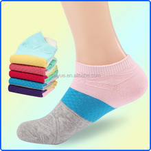 Yiwu Factory Of China Casual Style Color Matching Cheap Thin Women Ankle Socks