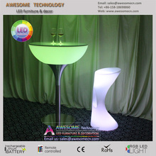 led light up portable high top cocktail bar table