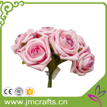 Decorativo artificial pink 6 cabezas eva ramo de flores