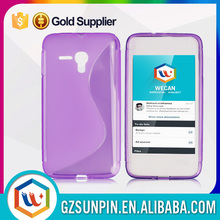Colorful thin tpu case for alcatel one touch idol alpha
