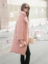 Fashion Lady Cheap Winter China Faux Fur Coats Women