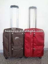 2012 latest trolley travel luggage with 4 university wheels