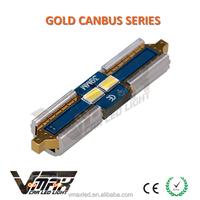 12V-14.5V 31/36/39/42mm 100LM 2*3623SMD CANBus Non-Polarity automotive gold festoon energy saving bulbs custom car interior