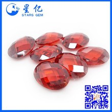 mid garnet loose stones faceted cutting natural garnet gems