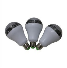 New Item E27 5W LED Light Bulb with Bluetooth Speaker 2 IN 1 Smart Colorful RGB Bubble Ball Lamp