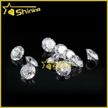 wuzhou hot sale wax casting gemstone white round machine cut cubic zircon stone