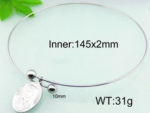 145x2mm Mother's Day Gift Stainless Steel Simple Collar Necklace For Women
