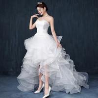 2015 Latest Sexy Front Short Back Long Princess Wedding dresses