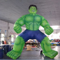 giant balloon type inflatable green muscle man advertising