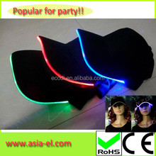 Popular events led baseball hats cowboy night hat with inverter