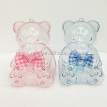 Best selling baby bear shaped acrylic box for decoration baby shower favor