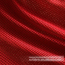 100% polyester mesh fabric for sportswear football jersey t-shirt