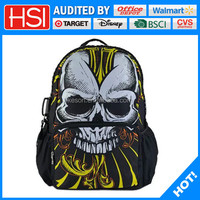 sublimation polyester skull wholesale 3d school bag 2015