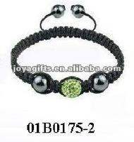 Fashion 2 row shamballa bracelet