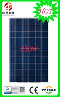 Aluminum alloy frame polycrystalline silicon 230W solar panel
