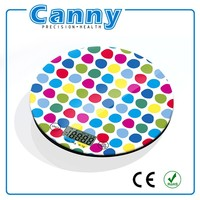 Food weighing scale kitchen scale for familly use BIG ROUND PLATFORM colorful design