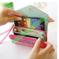 Universal Wallet Leather Purse Case for iPhone and for Samsung