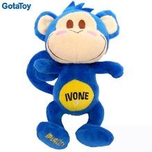 Custom plush blue monkey stuffed animal