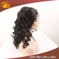 6A Unprocessed Indian Remy Wholesale Cheap Human Hair Full Lace Wig For Black Women